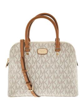 Cream Patterned Grab Bag by Michael Kors