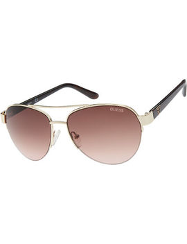 Gold Aviator Sunglasses by Guess