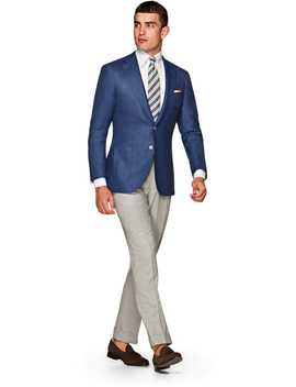 Jort Blue Plain by Suitsupply