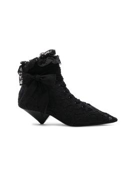 Lace Blaze Ankle Boots by Saint Laurent