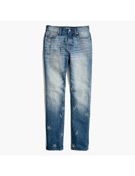Pre Order The Short Perfect Summer Jean: Daisy Embroidered Edition by Madewell