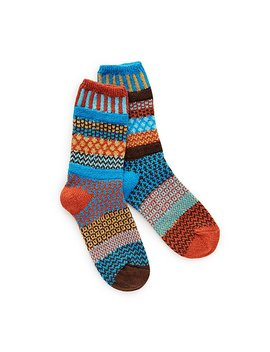 Autumn Sky Mismatched Socks by Marianne Wakerlin