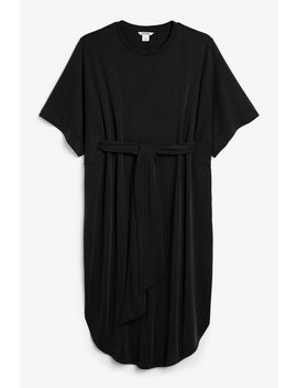Super Soft Belted Kaftan Dress by Monki