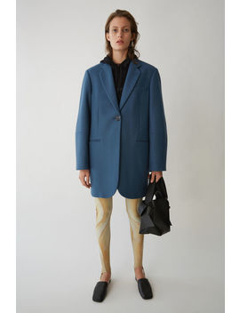 S Ingle Breasted Coat Slate Blue by Acne Studios