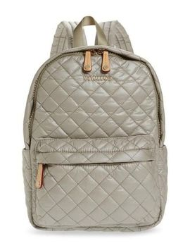 Women's Metallic Small Metro Backpack by Mz Wallace