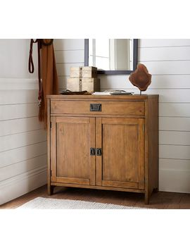 Wade Smart Entry Console, Almond White by Pottery Barn