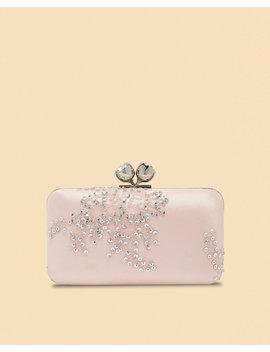 Embellished Bobble Clasp Satin Evening Bag by Ted Baker
