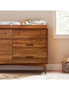 Mid Century 6 Drawer Changing Table   Acorn by West Elm