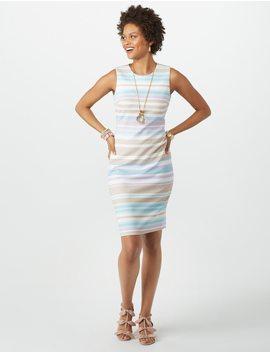 Striped Sheath Dress by Dressbarn