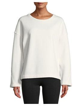 Crewneck Vented Pullover Sweatshirt by Vince