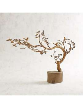 Golden Tree With Birds by Pier1 Imports