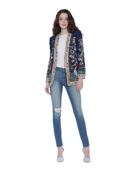 Jenice Embroidered Long Blazer by Alice And Olivia