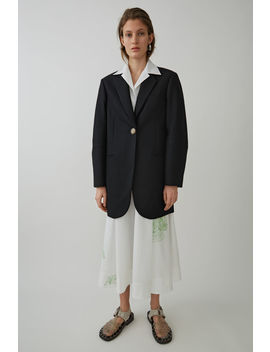 S Ingle Breasted Coat Black by Acne Studios