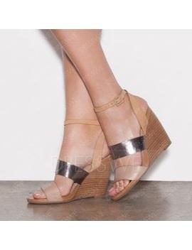 Vogue Open Toe Sequin Wedge Sandals by Dress We