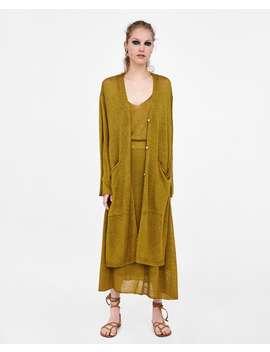 long-rustic-cardigan--knitwearsale-woman by zara