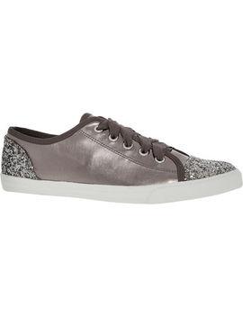 Silver Glitter Jasper Low Top Trainers by Carvela