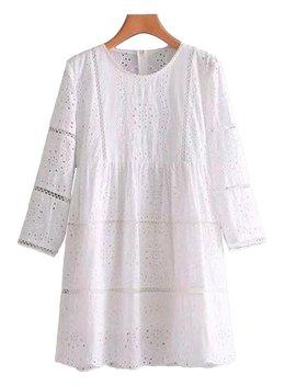 'pearlie' Crochet Ruffle Dress by Goodnight Macaroon