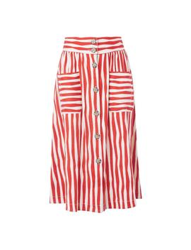 Annelin Red Stripe Skirt by L.K.Bennett