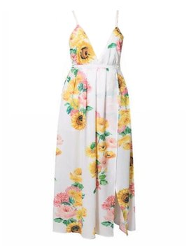 'chelsey' Floral Cross Maxi Dress by Goodnight Macaroon