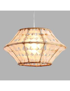 White Capiz And Rattan Samar Pendant Shade by World Market