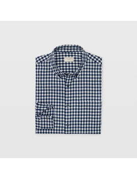 Slim Micro Gingham Shirt by Club Monaco