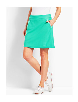 Solid Classic Piqué Skort by Talbots
