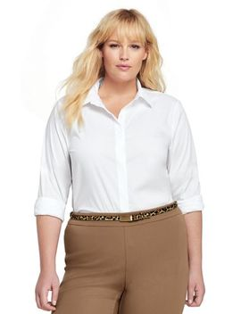 Women's Plus Size Easy Care Classic Shirt by Lands' End
