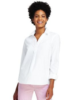 Women's Plus Size Popover Oxford Shirt by Lands' End