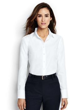 Women's Plus Size No Iron Tailored Dress Shirt by Lands' End