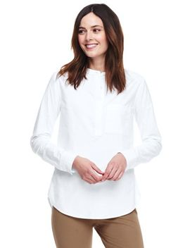 Women's Plus Size Oxford Boyfriend Shirt by Lands' End