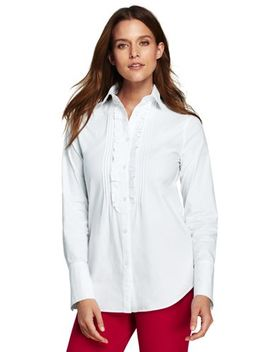 Women's Plus Size Poplin Tuxedo Shirt by Lands' End