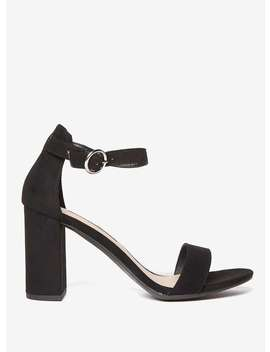 Black Shimmy Block Heel Sandals by Dorothy Perkins