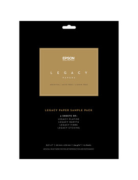 "Legacy Paper Sample Pack (8.5 X 11"") by Epson"