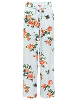 Blue And Orange Floral Palazzo Trousers by Dorothy Perkins