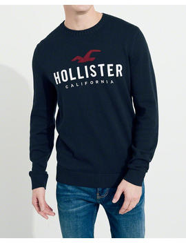 Logo Crewneck Sweater by Hollister