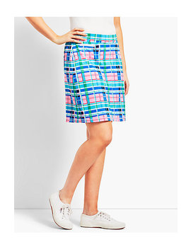 Vibrant Plaid Piqué Skort by Talbots