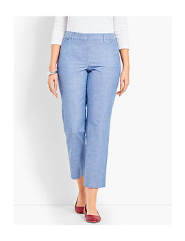 The Perfect Crop   Curvy Fit/Chambray by Talbots
