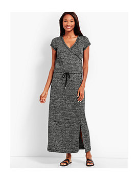 Marled Soft Drape Jersey Drawstring Waist Dress by Talbots