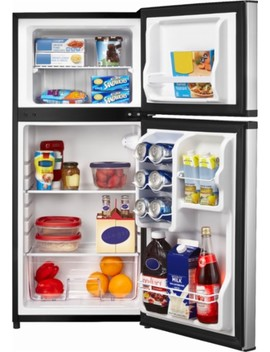 4.3 Cu. Ft. Top Freezer Refrigerator   Stainless Steel by Insignia™