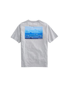 Ombre Whale Line T Shirt by Vineyard Vines