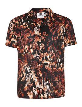 Black Animal Jacquard Short Sleeve Shirt by Topman