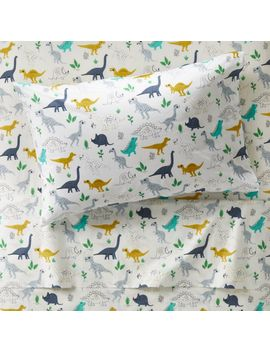 Organic Dinosaur Twin Sheet Set by Crate&Barrel