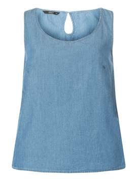 **Only Blue Chambray Top by Dorothy Perkins