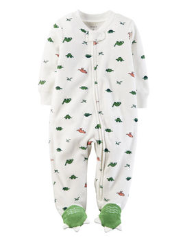 Dinosaur Zip Up Terry Sleep & Play by Carter's