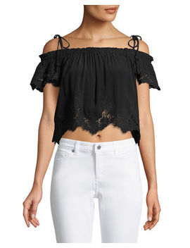 Nadia Tie Shoulder Crop Blouse by Astr