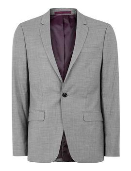 Gray Marl Skinny Fit Suit Jacket by Topman