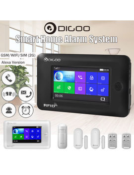Digoo Full Touch Screen 433 M Hz Sms Diy Smart Home Burglar Security Alarm System by Digoo