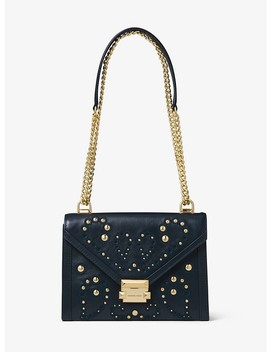 Whitney Large Embellished Leather Shoulder Bag by Michael Michael Kors
