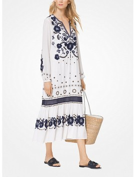 Floral Embroidered Silk Dress by Michael Michael Kors