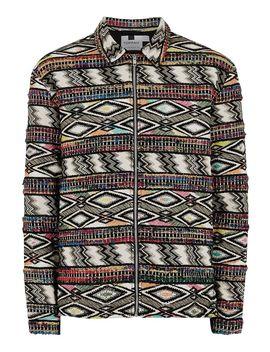 Printed Long Sleeve Overshirt by Topman